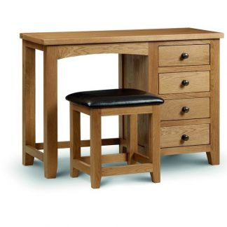 Julian Bowen Marlborough single pedestal dressing table