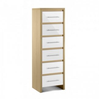 Julian Bowen Stockholm 6 drawer narrow chest