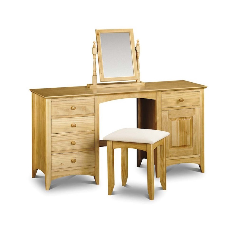 kendal double twin pedestal dressing table
