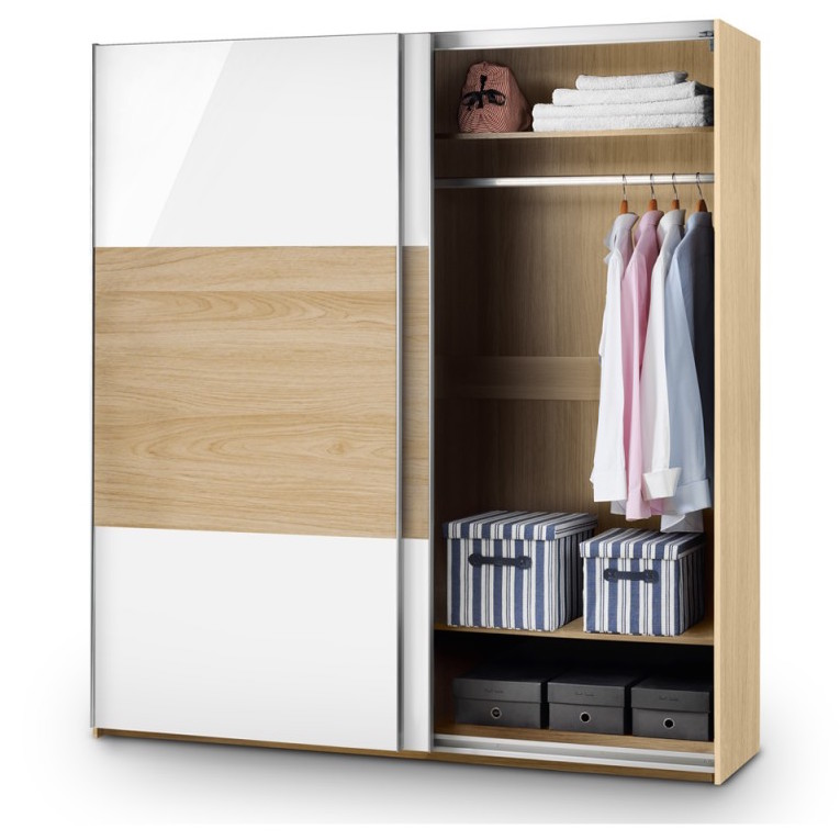 Julian Bowen Stockholm sliding door wardrobe - open
