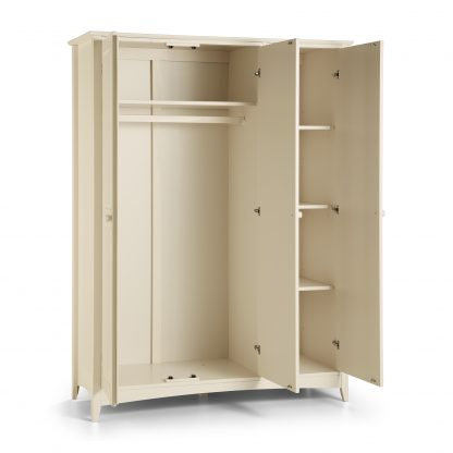 Cameo 3 Door Wardrobe open