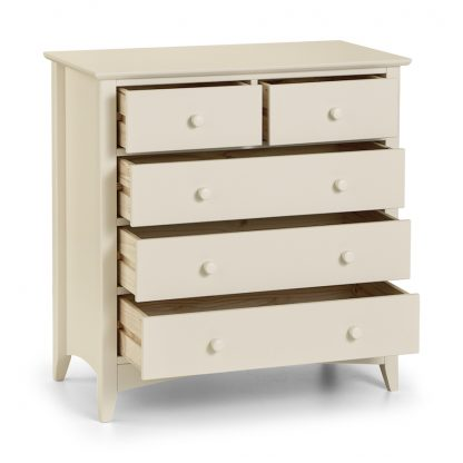 cameo 5 drawer chest open