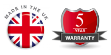 made in the uk 5 year warranty