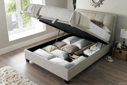 Kaydian Accent Ottoman Bed, Oatmeal, Open