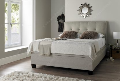 Accent Ottoman Bed, oatmeal