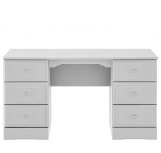 Kingstown NIcole grey double pedestal dressing table