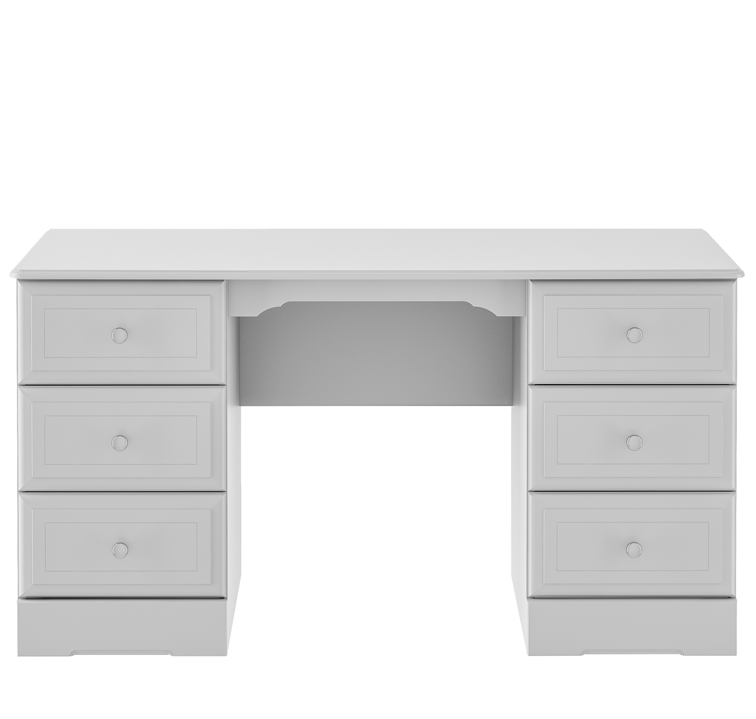 Kingstown Nicole Grey Double Pedestal Dressing Table