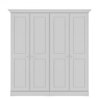 Kingstown nicole grey 4 door wardrobe