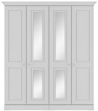Kingstown nicole white 4 door tal wardwrobe