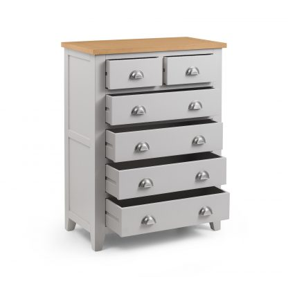 Richmond 4+2 Drawer Chest Open