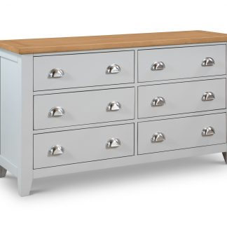 Richmond 6 Drawer Wide Chest Angle