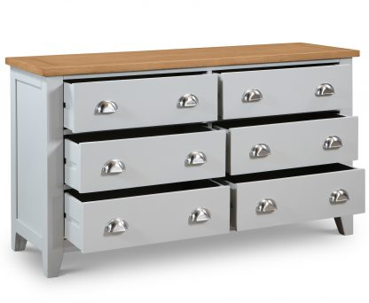 Richmond 6 Drawer Wide Chest Open