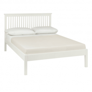 Atlanta white low foot end bed
