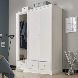 ashby white triple wardrobe