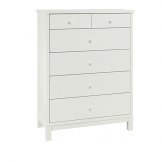 Atlanta White 4+2 drawer chest