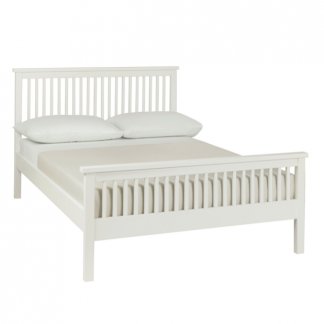 Atlanta White 150cm Low footend bedstead